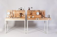 Kitchen / Workshop / Craftroom Ideas for the physically-impaired chopchop, a kitchen counter by dirk biotto Kitchen Counter Design, Kitchen Units, Mini Kitchen, Kitchen Designs, German Kitchen, Wooden Kitchen, Kitchen Work Station, Design Industrial, Kitchen Industrial