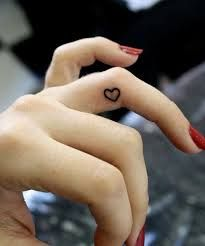 nice Heart tattoo on finger more image check our website