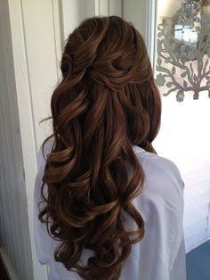 Wedding Hair Down Wedding hair Jacksonville fl. Bride Hairstyles, Down Hairstyles, Pretty Hairstyles, Office Hairstyles, Stylish Hairstyles, Hairstyles Videos, Hairstyle Short, School Hairstyles, Hair Updo