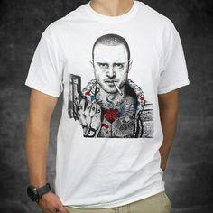 Jesse Pinkman Tattooed Body Breaking Bad Tshirt by DragonTees