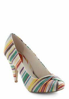 ModCloth striped heels