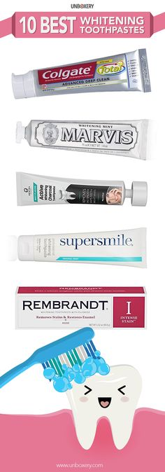 Natural Teeth Whitening Remedies Finding the best whitening toothpaste is not hard. Best Whitening Toothpaste, Teeth Whitening Remedies, Natural Teeth Whitening, Skin Whitening, Teeth Care, Skin Care, Makeup Counter, Good Skin, Braces
