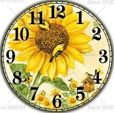 Flower Clock Square Diamond Painting
