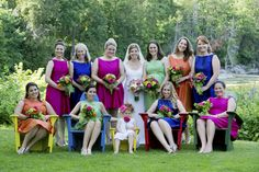 A Rainbow of Colors Fill This Fun & Festive Basin Harbor Club Wedding.  Family member's wedding.