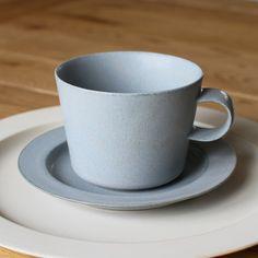 Cup and Gouter Unjour Matin in Smoke Blue by Yumiko iihoshi