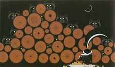 Raccoonnaissance by Charley Harper