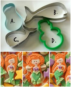 Mermaid Cookie Cutter Collection - http://www.sweetsugarbelle.com/2014/06/decorated-mermaid-cookies/