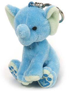 Elephant (Blue) Plush Keychain Stuffed Animal by Wild Republic