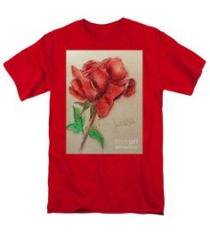 Portrait Of A Rose T-Shirt by Joan-Violet Stretch This a firm favourite t-shirt design