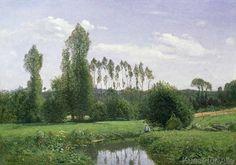 Claude Monet - View at Rouelles, 1858