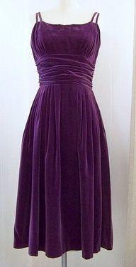 Purple velvet dress….need it in red