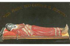 El cuerpo incorrupto de Santa Lucía, conservado en la Iglesia de San Jeremy y Santa Lucía en Venecia, Italia.
