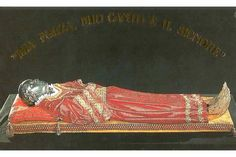 The incorrupt body of St. Lucy, kept in the Church of St. Jeremy and St. Lucy in Venice, Italy