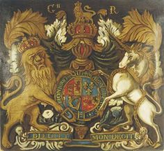 The Royal coat of arms , British School 19th c