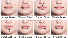 Facial peircing names