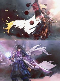Shogun Sage of Six Paths Naruto and Ronin Rinnegan Sasuke Naruto Shippuden Sasuke, Anime Naruto, Susanoo Kakashi, Naruto Und Sasuke, Naruto Art, Sasunaru, Naruto Wallpaper, Wallpaper Naruto Shippuden, Anime Crossover