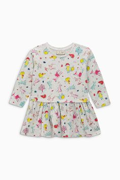 Buy Grey Marl Printed Tunic (3mths-6yrs) from the Next UK online shop