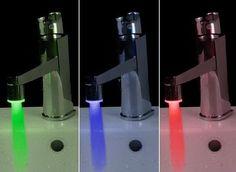 Temperature Sensor 3 Color RGB Glow Shower LED Light Water Faucet Tap