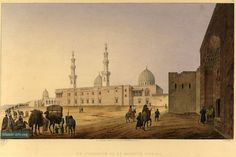 Complex of Sultan Faraj ibn Barquq, consists of khanqah, large mosque, two mausoleums, two sabil-kuttabs, two minarets, two large domes; central courtyard with four-iwan plan; stone minbar, made by order of Sultan Qayt-Bay in 1483