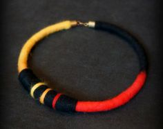 Hand felted ethnic necklace