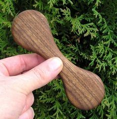 Baby Teething Toy (Hand Carved Walnut Wood)