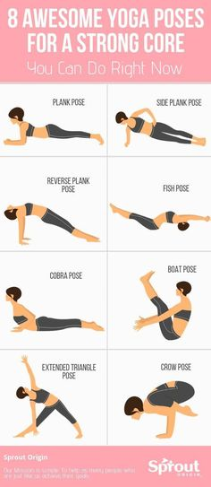 Your core is key to balance control and maintaining different yoga poses. Build your core Strength with these awesome yoga workouts for beginners. tips 8 Awesome Yoga Poses For A Strong Core You Can Do Right Now Yoga Fitness, Fitness Workouts, Yoga Workouts, Physical Fitness, Yoga Exercises, Health Fitness, Mens Fitness, Fitness Humor, Fitness Logo
