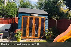 Buy Waltons 8 x 8 Vermont Wooden Summerhouse at Waltons Garden Buildings. UK made sheds, cabins and more. Summer House Garden, Summer Houses, Corner Log Cabins, Party Shed, Insulated Garden Room, Wooden Workshops, Shed Sizes, Plastic Sheds, House