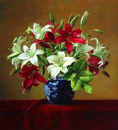 [Visit to Buy] lily flowers DIY oil painting by numbers Hand Painted Framed Acrylic Picture coloring by numbers on canvas Plant Painting, Diy Painting, Painting Flowers, Flower Paintings, Art Floral, Art Mur, Still Life Flowers, Gifts For An Artist, Amazing Flowers