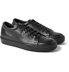 Acne StudiosAdrian Grained-Leather Sneakers €300