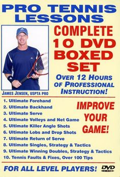 Pro Tennis Lessons Complete 10 DVD Boxed Set, Starring Renow $229.95