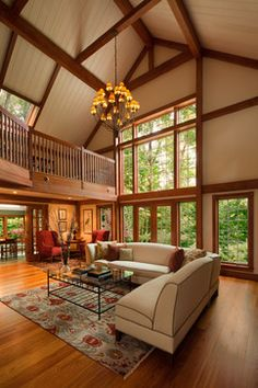 The Gathering House Barn Home - Beautiful living room. Def needs different furniture but otherwise beautiful