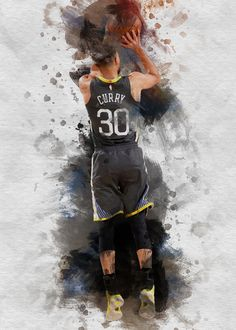 "Beautiful ""Stephen Curry"" metal poster created by Defi Saul. Our Displate metal prints will make your walls awesome. Stephen Curry Poster, Kobe Bryant Michael Jordan, Kobe Bryant Pictures, Basketball Posters, Nba Wallpapers, Utah Jazz, Golden State Warriors, Print Artist, Cool Artwork"