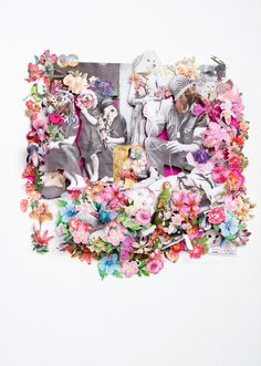 The talented Berry Meyer, a South African artist living in The Netherlands, creates intricate collages that tell layered stories. 3d Collage, Paper Cutting, Cut Paper, South African Artists, Zoo Animals, Our Love, Paper Art, Berries, Balloons