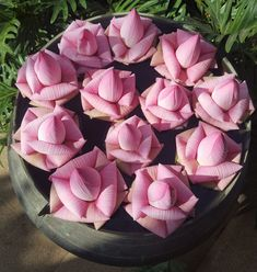 Folded lotus flowers at Jaya House Riverpark Wedding Hall Decorations, Diy Diwali Decorations, Flower Decorations, Beautiful Rose Flowers, Beautiful Flower Arrangements, Floral Arrangements, Lotus Flowers, Wildflower Drawing, Thai Decor