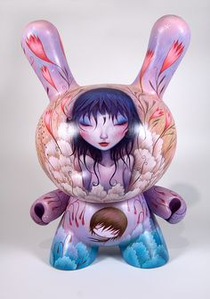 Gorgeous custom Dunny by Small and Round (Jeremiah Ketner)