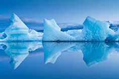 Glacier Reflections  Photo by Styrmir Kari Erwinsson -- National Geographic Your Shot. Iceland.