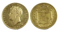 Lot 353: George IV gold proof £2 piece (1826). Extremely rare! Estimate £1800-£2200 Sale date 21st August 2013 www.afbrock.co.uk