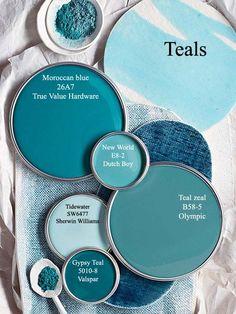 69 Ideas apartment bathroom teal paint colors - Home Design World Teal Paint Colors, Bathroom Paint Colors, Wall Colors, House Colors, Teal House, Teal Bathroom Decor, Teal Bathrooms, Modern Bathroom, Teal Room Decor