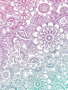 Inspired Cases Flower Zentangle Pattern Case for iPhone 5 & 5s Inspired Cases