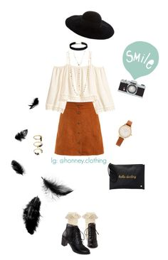 """""""I usually like meeting new people, but small talk is tedious"""" by honney-clothing on Polyvore featuring Monsoon, H&M, Eugenia Kim, Olivia Burton, Noir Jewelry, Deux Lux, Natasha and Seventy Tree"""
