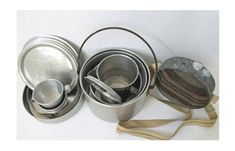 Aluminum 16Pc Nesting Camping Cookware and by AbslewtlyVintage