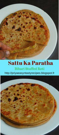 Bihari Sattu Ka Paratha/Sattu Rotti