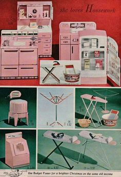 Vintage Toys Image detail for -. Ad Kitchen Appliance Toys Wringer Washer Ironing Board Stove and Sink - Vintage Kitchen Appliances, Toy Kitchen, Retro Kitchens, Kitchen Ideas, Vintage Advertisements, Vintage Ads, Vintage Items, Vintage Dolls, Vintage Pink