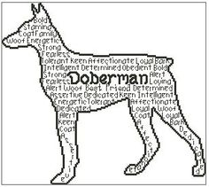 In Words Doberman is an outline chart measuring 150 stitches wide by 134 stitches high and has been designed for you to use whatever colours you Cross Stitch Charts, Cross Stitch Patterns, Image Shows, One Color, Dog Life, Outline, Moose Art, Colours, Words