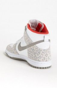 Red cheetah Nike High tops