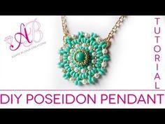 ▶ DIY TUTORIAL Poseidon Pendant - Ciondolo con twin beads, perle cerate e rocailles starlight - YouTube
