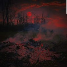 Blood Moon Eclipse, Concept Art, Sunset, Photo And Video, Dark, Amazing, Outdoor, Instagram, Gothic
