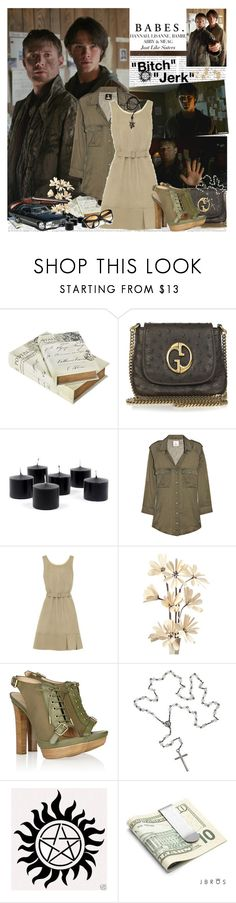 """Supernatural: ""Bi*ch, Jerk"""" by sub-marine-mission ❤ liked on Polyvore featuring Episode, Gucci, M.i.h Jeans, Yves Saint Laurent, Emilio Pucci, Topman, JBROS, Emmanuelle Khanh, cat eye glasses and denim shirts"