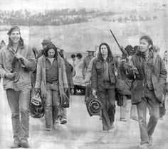 Seige of Wounded Knee 1973 by the American Native Indian