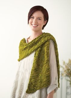 Cable Lace Crossover Wrap Knitting Pattern | InterweaveStore.com